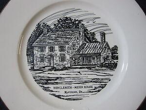 Bicentennial Isaac Meier Homestead Myerstown, PA Gold-Rimmed China Plate