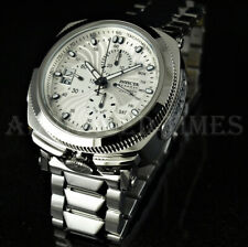 Invicta Reserve Excursion SWISS Ronda Retrograde WHITE DIAL High Polish Watch