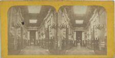 Le Sénat Galerie des Bustes Paris Photo H. Jouvin Stereo Vintage Albumine