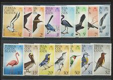 Turks & Caicos Islands 1973 Definitive Birds 15 Pc. Stamp Set Sc # 265-279 MNH