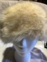 Vintage Ivory Fox Faux Fur Russian  Hat