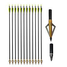 """6/12x 32"""" Fiberglass Arrows Archery Target Practice Quiver Recurve/Compound Bow"""