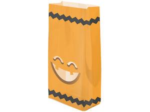 25 Cellophane Jack'O Lantern 3.5x2x7.5 Cello Bags Pumpkin Halloween Candy Gifts