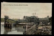 Coal Co. Wharves, Nanaimo BC Vic & Wel Railway cancel