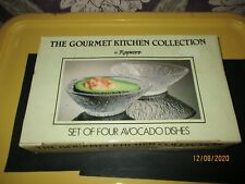 Vintage Rayware The Gourmet Kitchen Collection set of four Avocado Dishes.