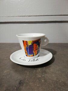 FOLLIET CAFE 1 tasse Nicole Blas  Soucoupe café chocolat thé Déco Bar XXème
