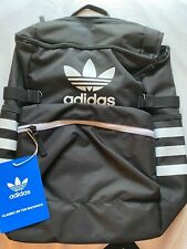 Adidas Classic Zip Top Backpack Black/White New With Tags