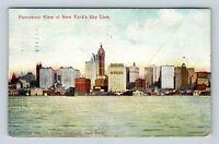 New York City NY, Panoramic View Of Skyline, Vintage New York c1911 Postcard