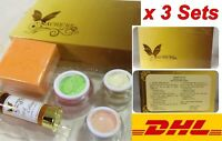 3x Mache're Gold Whitening Natural Cream Set Reduce Acne Dark Circles Freckles S