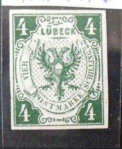 1859Mi 35,- MiNr 5 a Wappen 4 Schilling dunkelgrün ungebraucht ohneGummi Luxus