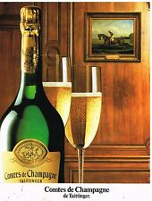 Publicité Advertising 1986 Comte de Champagne par Taittinger