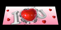 I LOVE YOU 3D MOTION  BOOKMARK  BY EMOTION GALLERY- BM-049
