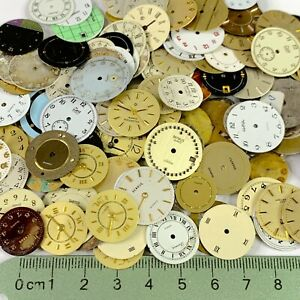 10 Watch Faces Dials Steampunk Parts Altered Art Watchmaker Lot Small Round