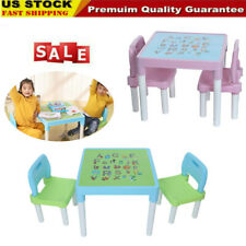 Plastic Kids Table And 2 Chairs Set For Boys Or Girl Toddler Safe Furniture Xmas