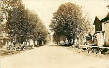c1916 RPPC Postcard; Church Street Looking East, Saranac MI 5109 Ionia County