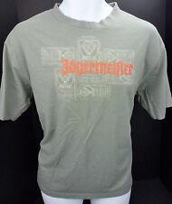 Medium Jagermeister T Shirt Gray Deer Buck Liquor Antlers Mens M