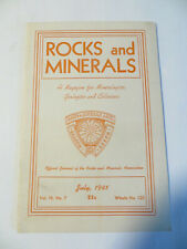 Rocks and Minerals Magazine July 1941