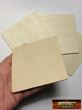 "M01276a Morezmore 4 Unfinished Wood 4"" Square Cutouts Wooden Blanks Dws"