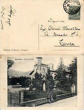 """REGNO-5c(81) su cartolina CORMONS """"Villa Perusini""""->Vicenza 8.2.1917"""