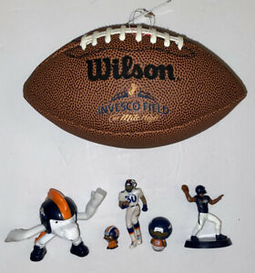 Denver Broncos Invesco Field at Mile High Mini Football Plus Mini Figures Lot