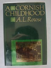 A Cornish Childhood  By A.L. Rowse - Signed First Edition