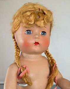 Vintage 1940s Composition Doll