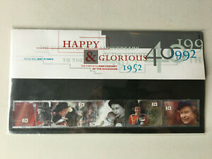 1952-1992 Royal Mail Mint Stamps Happy & Glorious 40th Anniversary of Accession
