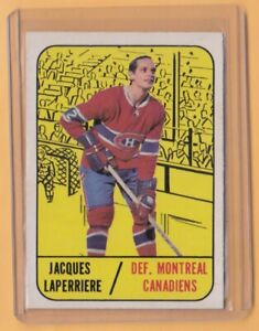 1967-68 TOPPS # 07 JACQUES LAPERRIERE CANADIENS MONTREAL PSA MAYBE
