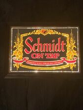 Vintage Schmidt Beer Lighted Mirror Sign, MINT!