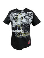 Men's MMA Printed T-Shirt Martial Arts Combat Cage Fight Fearless 100% Cotton
