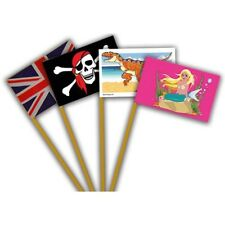 16 x Sand Flags Ideal for Sandpits or the Beach Sand Castles 4 Packs Of 4
