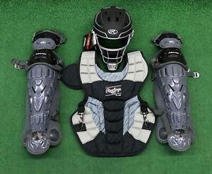 Rawlings Velo 2.0 Youth 10-12 Baseball Catchers Gear Set - Black Graphite
