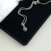 Vintage Sterling Silver 925 Marcasite Necklace