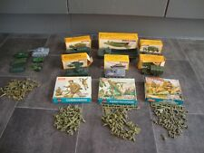 VINTAGE AIRFIX H0/00 SCALE MILITARY FIGURES AND VEHICLES SOME BOXED NICE BUNDLE