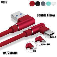 0.9/1.8/3m 90° Forma de L Flexión Resistente Cable de Datos Del Cargador