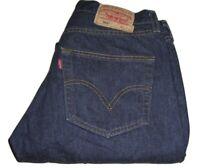 Mens LEVI'S STRAUSS & CO. 501 Dark Blue (0101) Denim Jeans W32 L32 Straight Leg