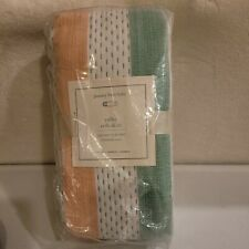 POTTERY BARN BABY ~ COLBY CRIB SKIRT ~ MULTICOLOR ~ DOTS & STRIPES ~ GREEN/CORAL