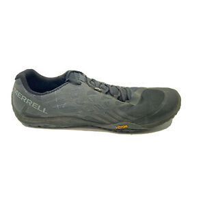 Merrell Trail Glove 4 Mens Sz 12 Black Blue Lace Up Low Top Running Shoes J09673