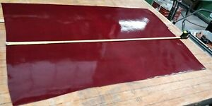 Cranberry RED Shiny Butt Split PU Coated Leather Panel 3.0mm Thick LOT 2126