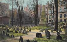 Antique POSTCARD c1907 Grave of Franklin BOSTON, MA MASS. 18905