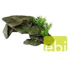 großer Decor-Stein STONE mit Pflanzen - Dekoration, Versteck, Höhle, Barschhöhle