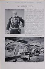 1897 BOER WAR FRENCH NAVY ADMIRAL BESNARD BATTERY DECK AMIRAL DUPERRE