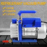1.8CFM 1 Stage Refrigerant Vacuum Pump 1/4 HP Fiberglass Infusion Refrigeration