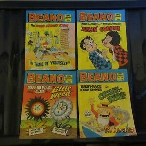 Vintage Beano Comic Books X4 From Beano Comic Library 1985 Really Good Condition
