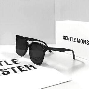 Gentle Monster HER 01 Large Square Black Frame  Women Men Sunglasses