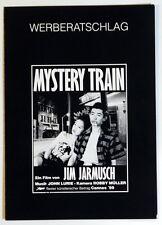 Jim Jarmusch MYSTERY TRAIN original deutscher Werberatschlag 1989