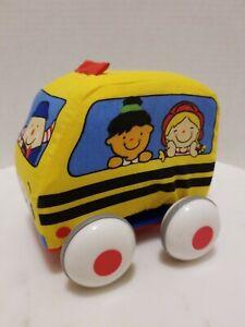 "Melissa & Doug K's Kids Soft Pull-Back Bus Baby Toy Plush 4"""
