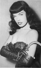 "Bettie Page Vintage Pinup XL CANVAS PRINT 24""X 36"" Black & White photo C"