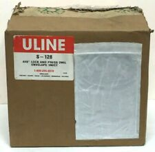 5x ULINE large poly mailer 14x17 14.9x19 Self-Seal Tear-Proof white shipping bag