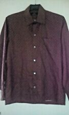 "Pure Thai ""Rare""Silk Jim Thompson  Black/Red  ""Elephant"" Pattern Mans Shirt szS"
